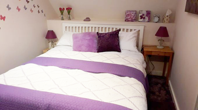 cosy bed with pillows